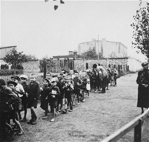 The children were deported from Lodz ghetto to death camp at Chelmno..