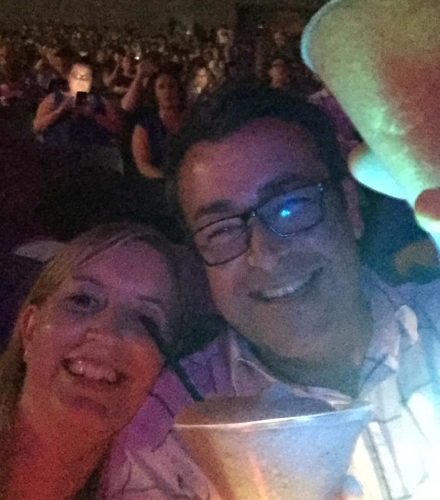 Rachel and Paul at Kylie Minogue concert, 2015