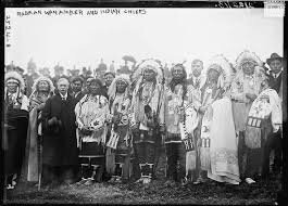 Rodman Wanamaker with Indian chiefs in 1913