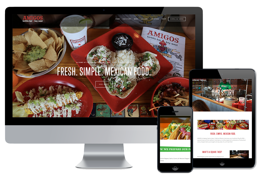 Click to visit the website for Amigos Key West & St. Pete created by Wonderdog Studios