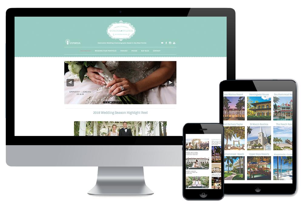 Click to visit the website for Wonderdog Weddings created by Wonderdog Studios