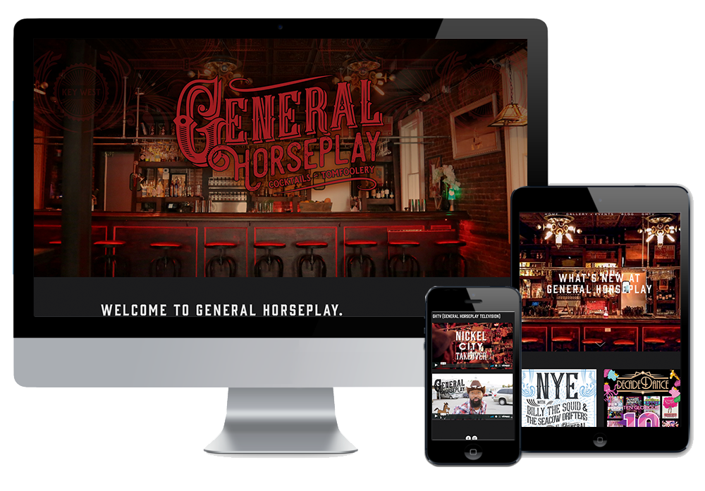 Click to visit the website for General Horseplay created by Wonderdog Studios