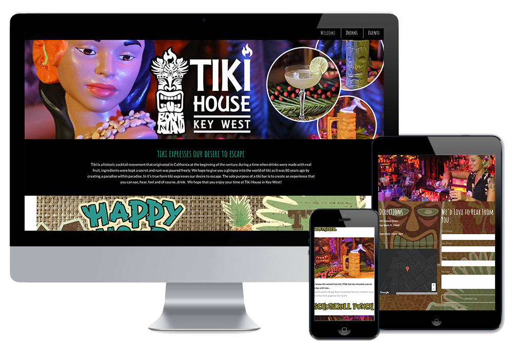 Click to visit the website for Tiki House Key West created by Wonderdog Studios
