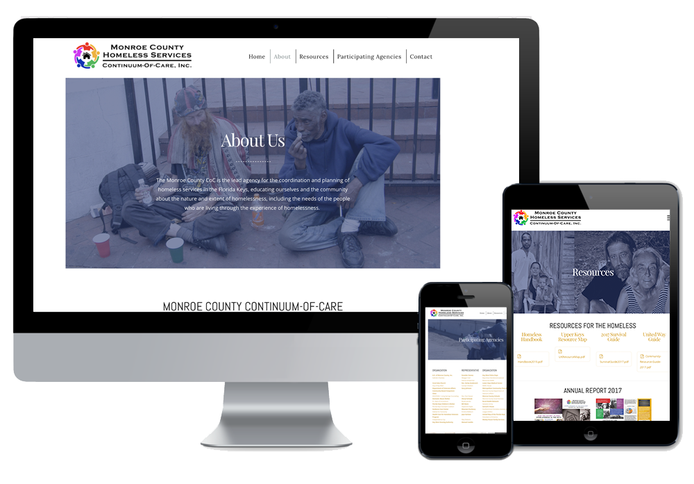Click to visit the website for Monroe County Homeless Services Continuum of Care created by Wonderdog Studios