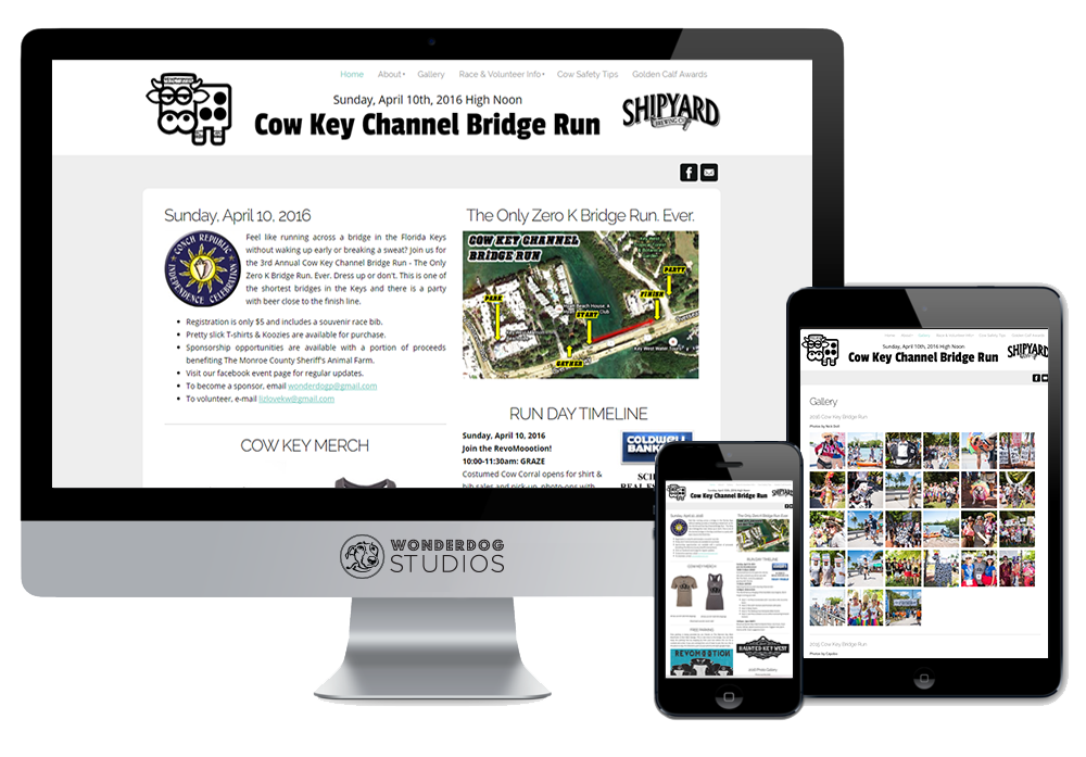 Click to visit the website for Cow Key Bridge Run created by Wonderdog Studios