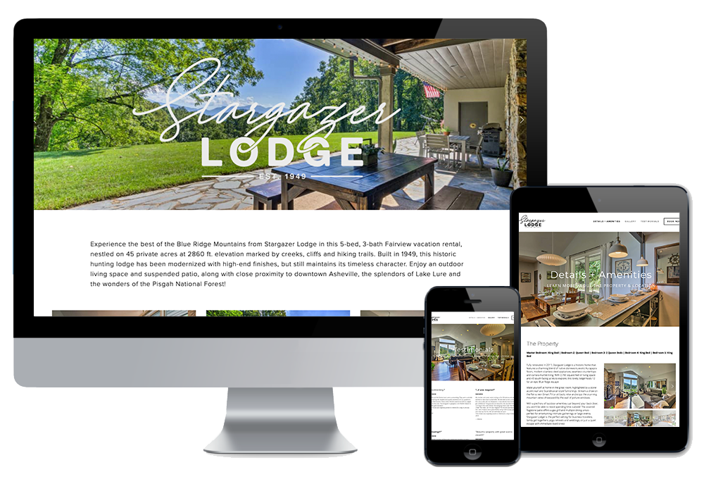 Click to visit the website for Stargazer Lodge created by Wonderdog Studios