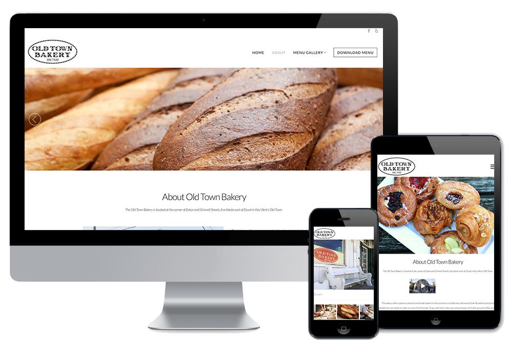 Old Town Bakery Website by Wonder Studios Key West