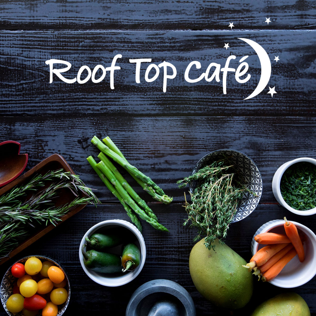 Click to view design work for Roof Top Cafe by Wonderdog Studios