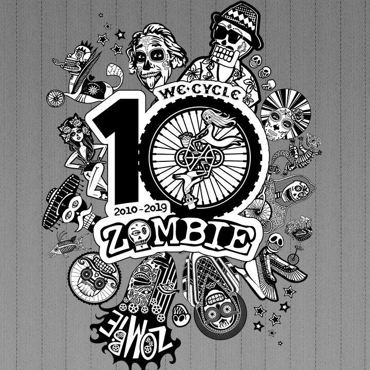 Click to view design and production work for Zombie Bike Ride by Wonderdog Studios