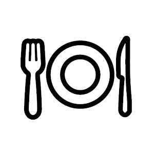 dinner plate and untensils graphic