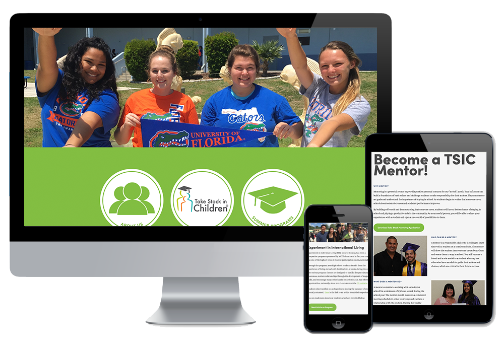 Click to visit the website for Monroe County Education Foundation created by Wonderdog Studios