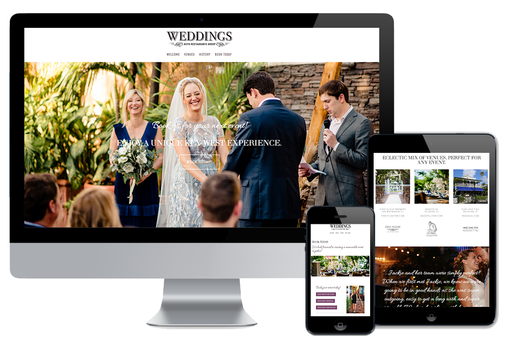 Click to visit the website for Keys Restaurants Group created by Wonderdog Studios