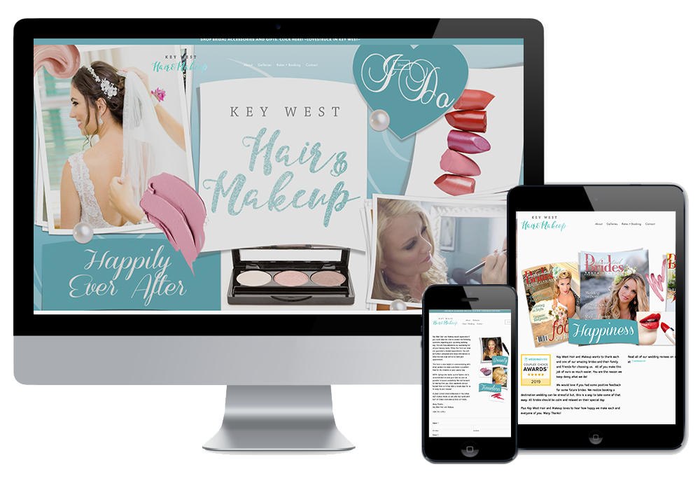 Click to visit the website for Key West Hair & Make Up created by Wonderdog Studios