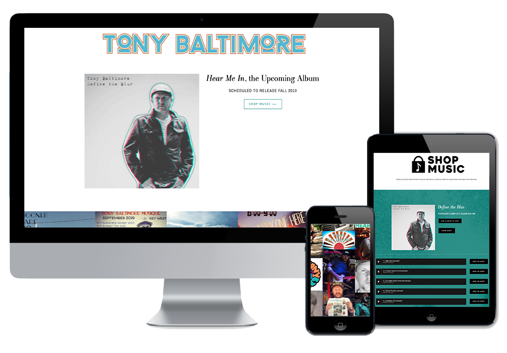 Click to visit the website for Tony Baltimore created by Wonderdog Studios
