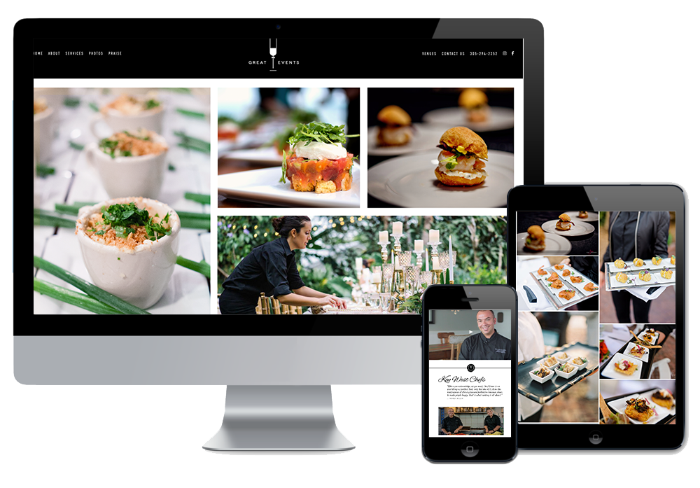 Click to visit the website for Great Events Catering created by Wonderdog Studios