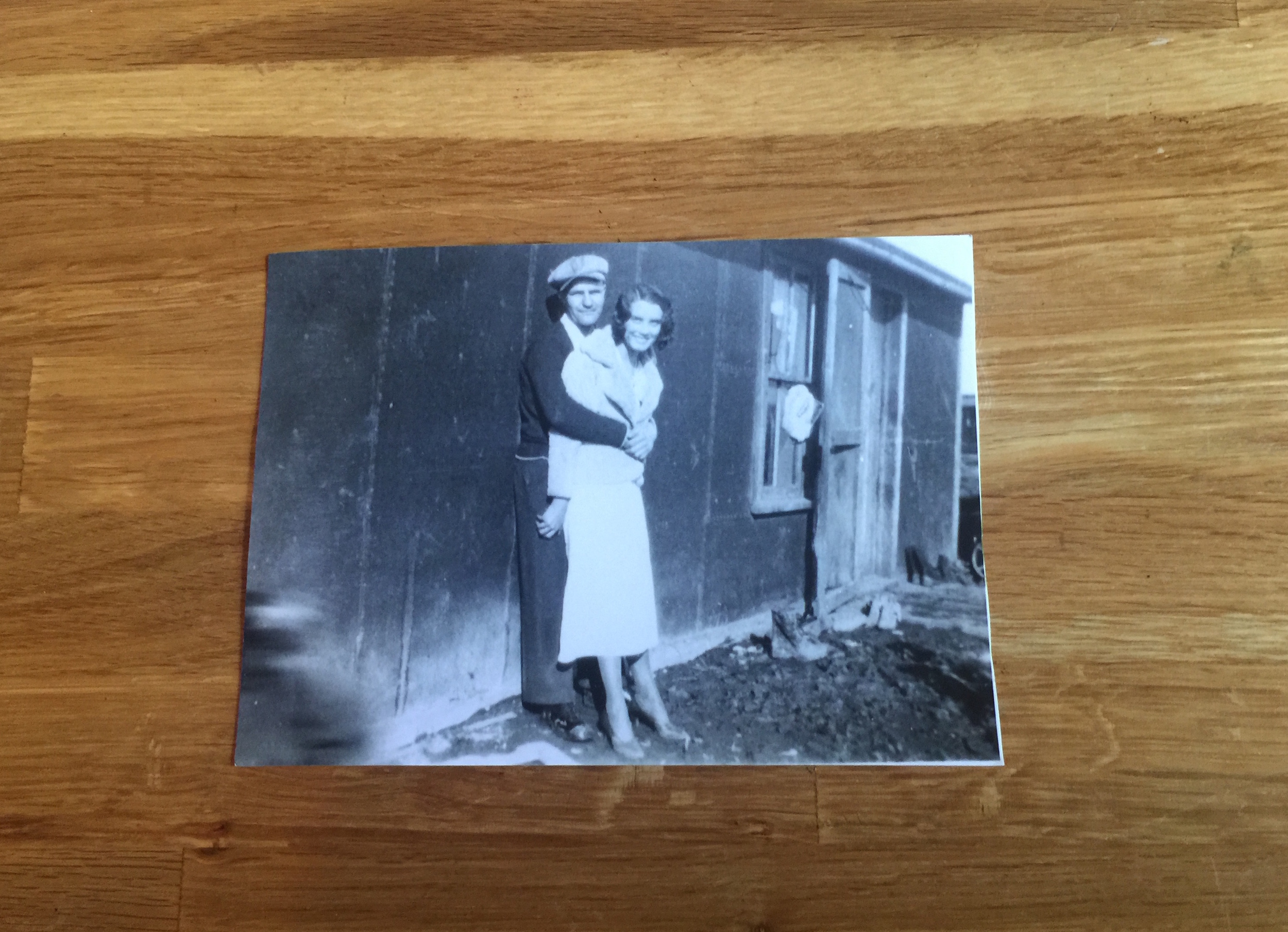 Young and poor, Zelma and Joe donned their fanciest outfits for their 1930s wedding in South Dakota.    memory prompt : When were you particularly resourceful, responding to difficult circumstances with aplomb?