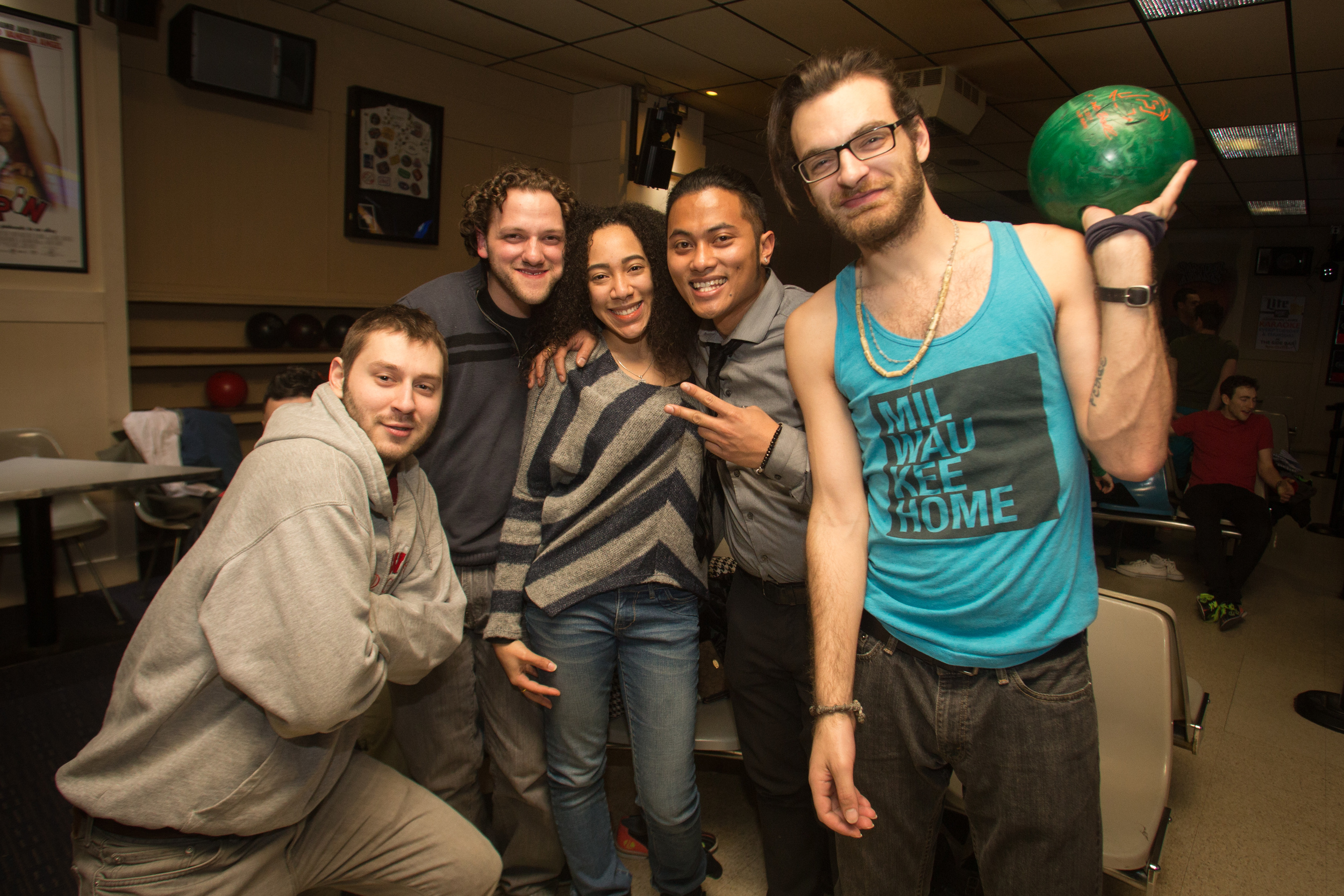 Weekend bowling at Landmark Lanes