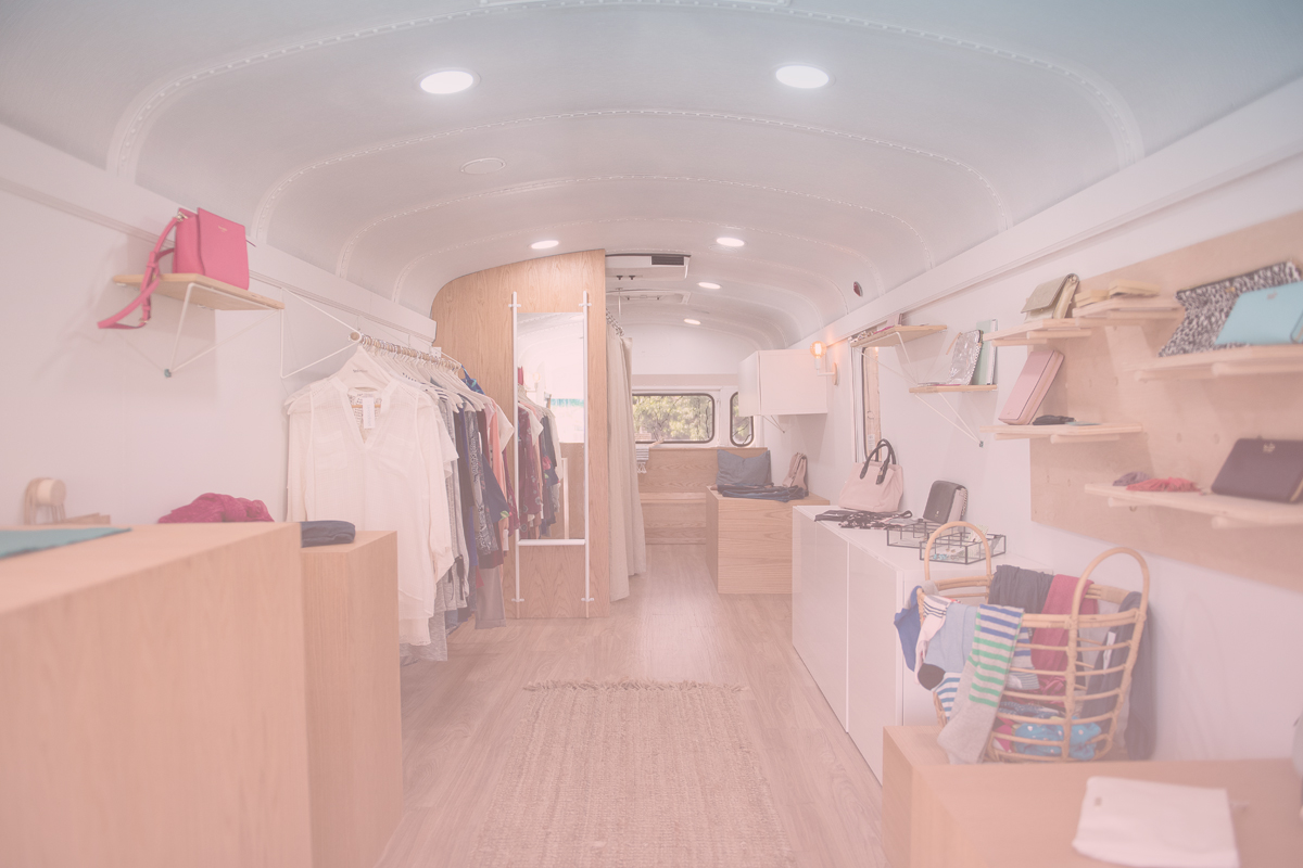 2017 - renovated a thomas school bus into a beautiful mobile store -