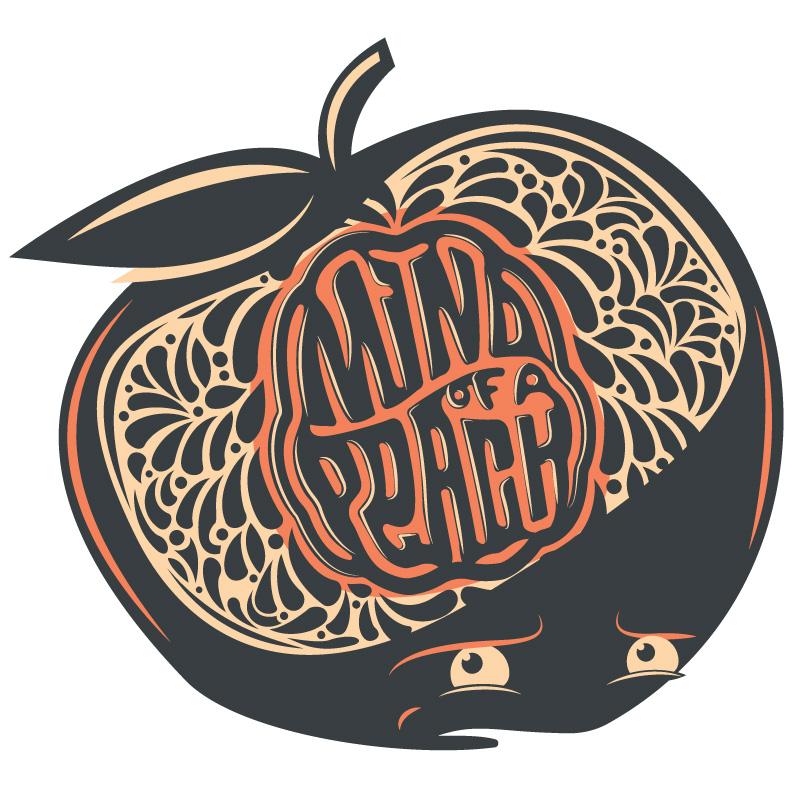 Label and 'Peach Man'artwork designed by the talented  Rodrigo Calderon .