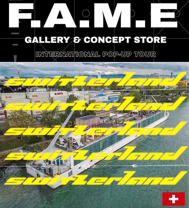 F.A.M.E Basel Experience Pop-up  @fame.worldwide  during the 50th Edition #ArtBasel  at @roofdeckbasel x @nordsternbasel  Thursday June 13 - Saturday June 15, 2019  Featuring the following creatives  @maddkyng  @naartbeerpainting  @queenrudie  @nugtopiaart  @jeantrix  Will feature a #Gallery & #ConceptStore Installation with #LivePainting Experiences in an amazing environment provided by #RoofDeckBasel x #NordsternBasel  Visual Ad by #TEAMFAME @imperialhive  #art #arte #fashion #wearableart #popup #popupshop #live #liveart #baselevents #basel #switzerland #germany #france #usa #artist #brand #fameworldwide #fametakeover #baselart #baselswitzerland #artevents
