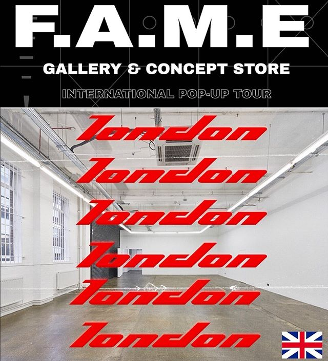 F.A.M.E London Experience Pop-up  Fri June 21 - Sun June 23, 2019  Friday & Saturday Agenda TBA  Sunday @ProteinStudios  Featuring the following creatives  @maddkyng  @skywelkin x @sky_welkin  @siobhan__hunter  @nugtopiaart  @jeantrix  Music by @itsjustsex.x.x  #Gallery & #ConceptStore Pop up with #Interactive & Live Experiences in an amazing environment in the #Shoreditch area  Visual Ad by #TEAMFAME @imperialhive . —- Few Spots Left to Participate  #art #arte #fashion #wearableart #popup #popupshop #live #liveart #usa #artist #brand #fameworldwide #fametakeover #artevents #london #londonfashion #londonart #londonpop #londonevents #shoreditchstreetart #unitedkingdom #england #uk #artistsoninstagram
