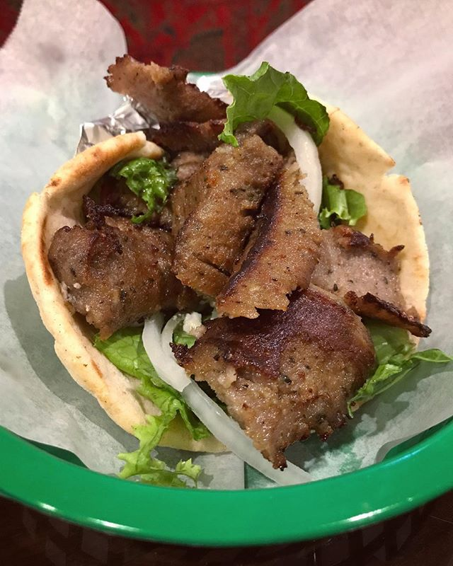Just a #Gyro... 😋 #thebest. Spiced beef and lamb meat slowly cooked on a vertical broiler and shaved into thin #YUMMY slices served on #pita bread with feta cheese, tomatoes, onions, lettuce, and our homemade tzatziki sauce. . . . #greenolivesc #mediterraneanfood #turkishfood #eatfresh #eatlocal #supportlocal #southcarolina #colatown #sodacity #columbiasc #famouslyhot #gocola #colaeats #colatoday #allthingscolasc #columbiafoodies #foodporn #nationsbestbites #instafood #nomnom #hangry