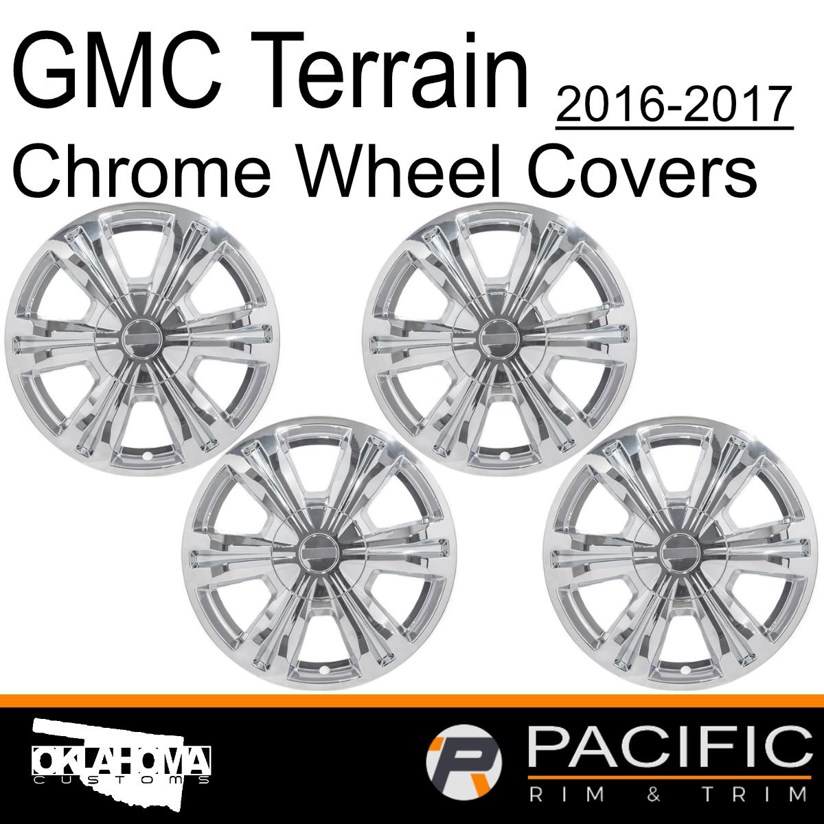 "4 Chrome 2018 2019 GMC Terrain SL SLE 17/"" Wheel Skins Hub Caps Full Rim Covers"