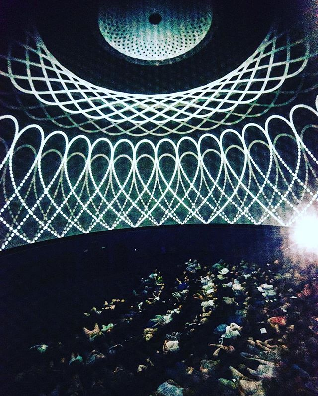 Last year's #melbournefestival crowd taking in Sar Ruddenklau's stunning animations as part of #particlewave at @scienceworks_melb ... don't miss out on tickets to this Saturday's @nationalscienceweek shows... link in bio