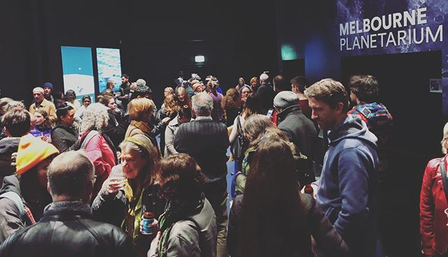 Thanks to everyone who came along to the last of our @nationalscienceweek shows at the #melbourne #planetarium last night. It's been an absolute pleasure putting these shows on again.  Special thanks to our friends at @ozgrav for putting on their VR experience and the staff at @scienceworks_melb for being amazing hosts. . . #art #science #fulldome #scienceart #particlewave #projectionart #videoart #stem #nationalscienceweek