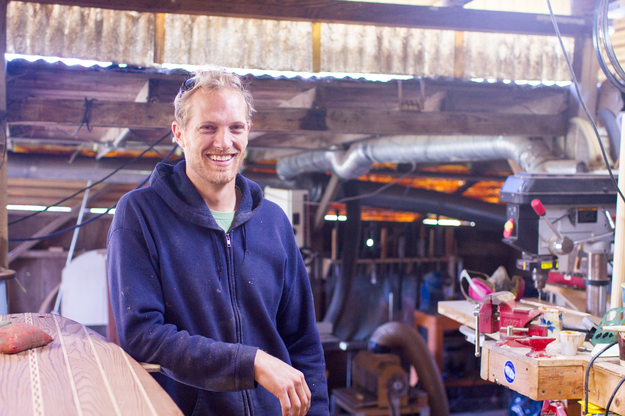 Martijn Stiphout, head craftsman for  Ventana Surfboards .