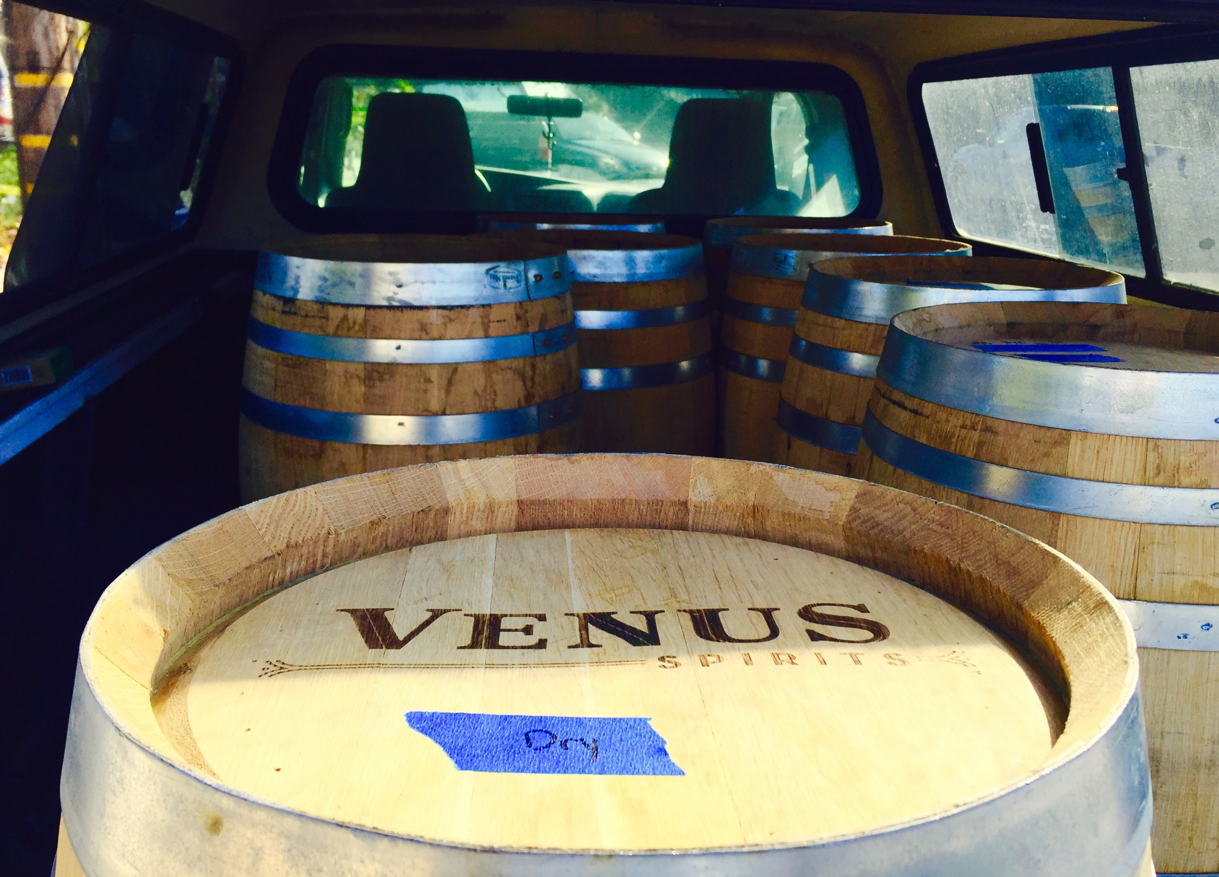 Blue Agave Tequila and Wayward Whiskey barrels from Venus Spirits