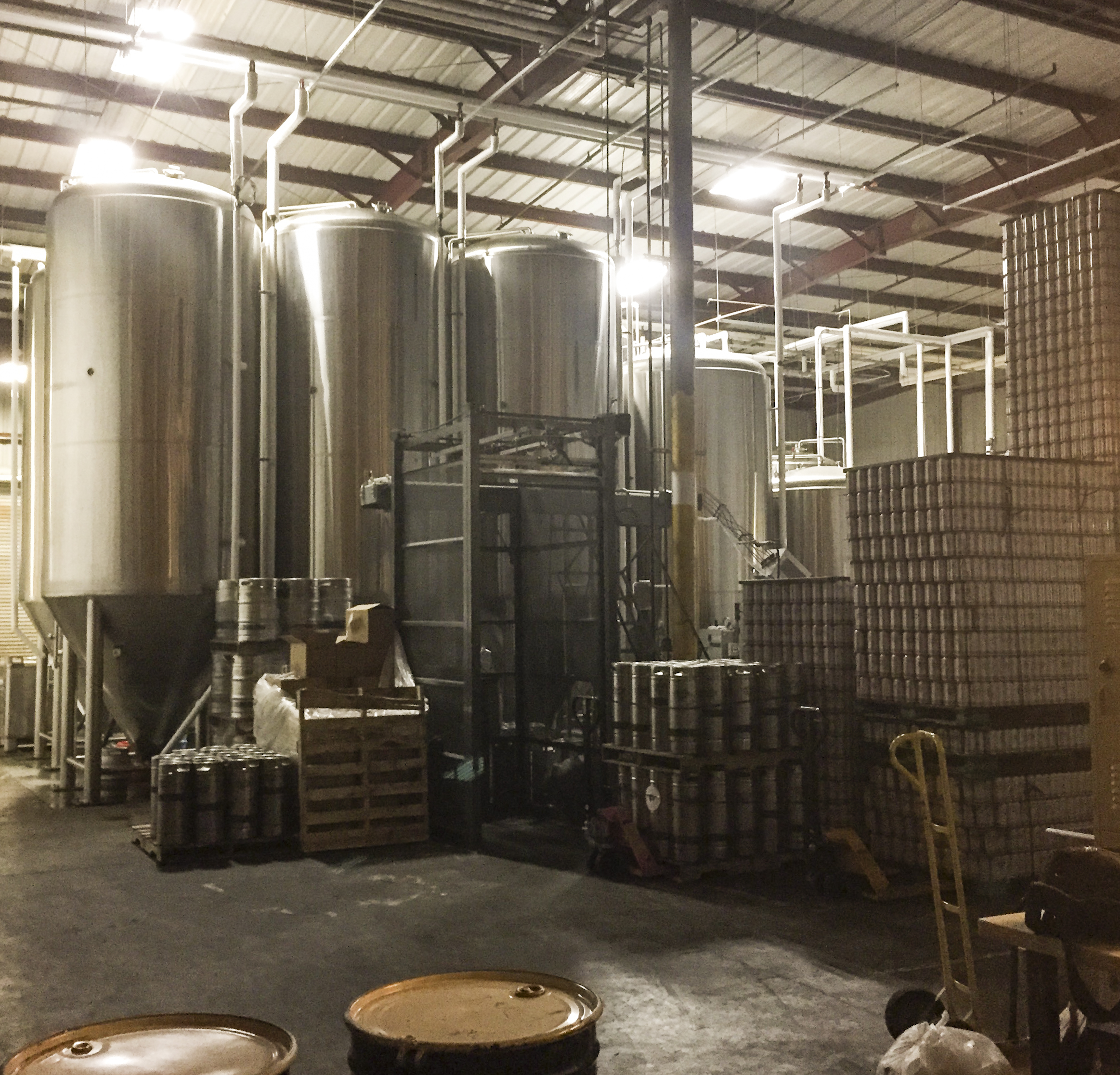 Modern Times Brewery, a San Diego craft brewery, said their biggest problem is being able to brew enough beer to keep up with the demand. Check out that sweet set up!