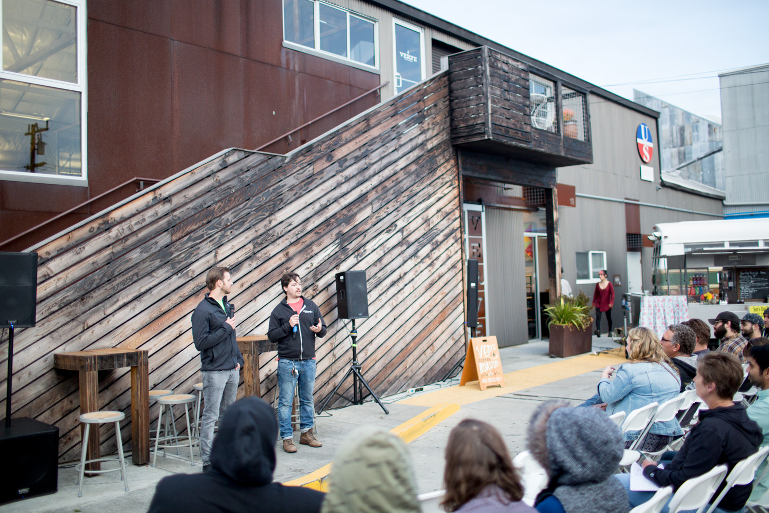 Ben and Nick dropping a beer bomb of knowledge at Event Santa Cruz's Brew: Part II