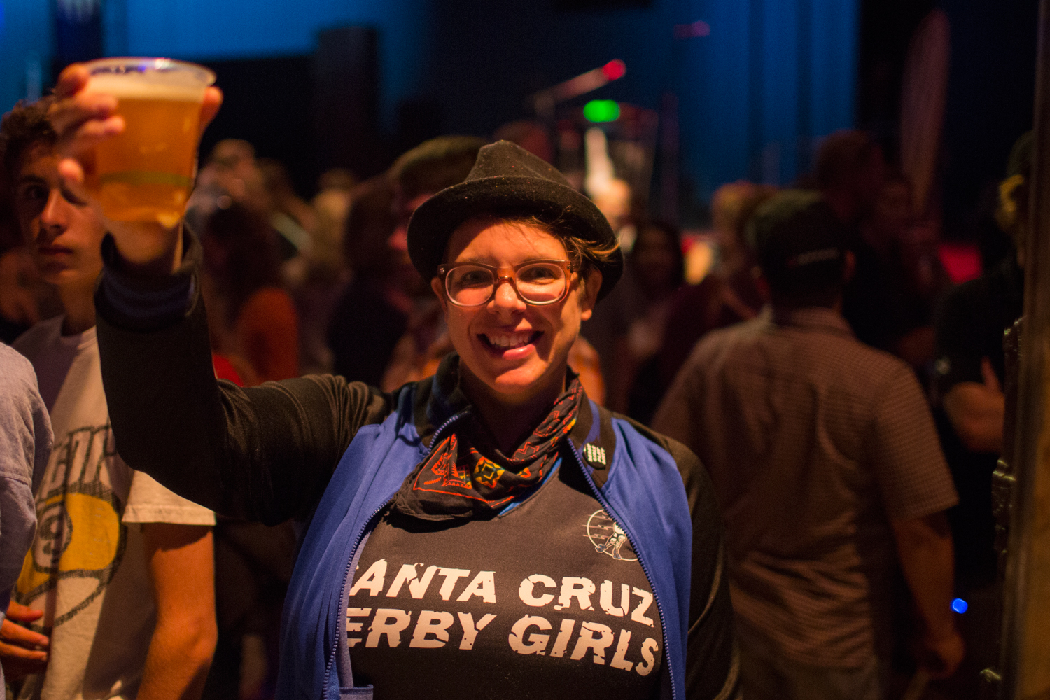 Cheers to the Santa Cruz Derby Girls and all their thirsty members.