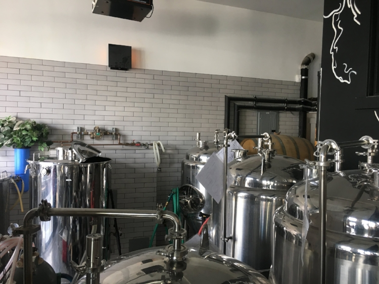 The brewhouse was the most telling part of the space. Everything was small, purposeful, and had it's own place.