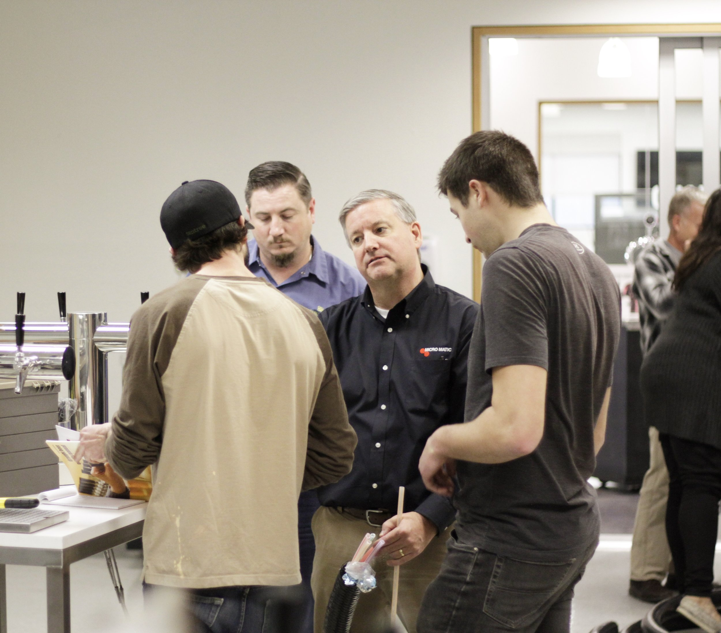 David Green of Micro Matic's Dispense Institute is stressing proper technique when running glycol.