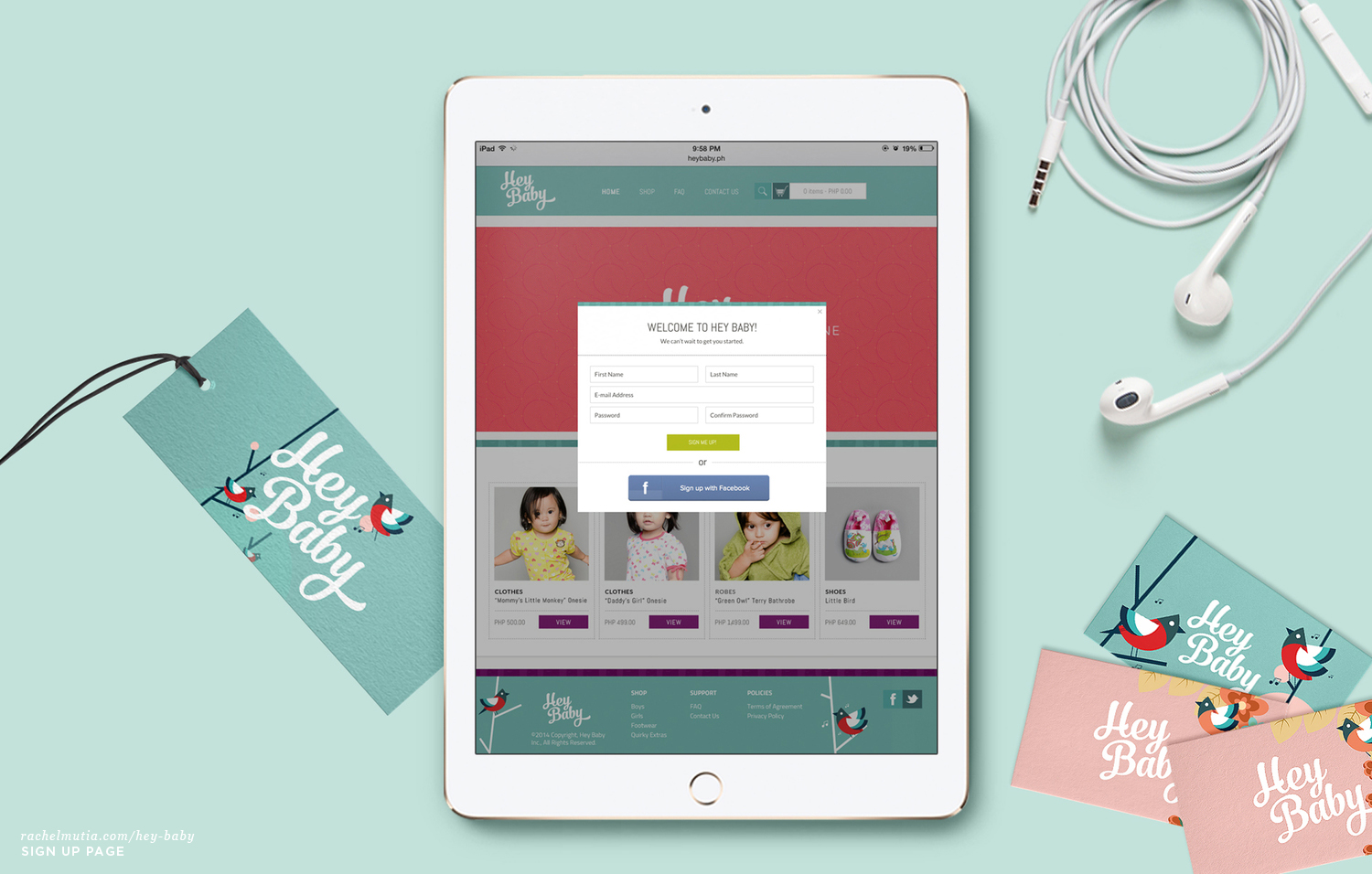 Hey Baby Sign Up Page by Rachel Mutia