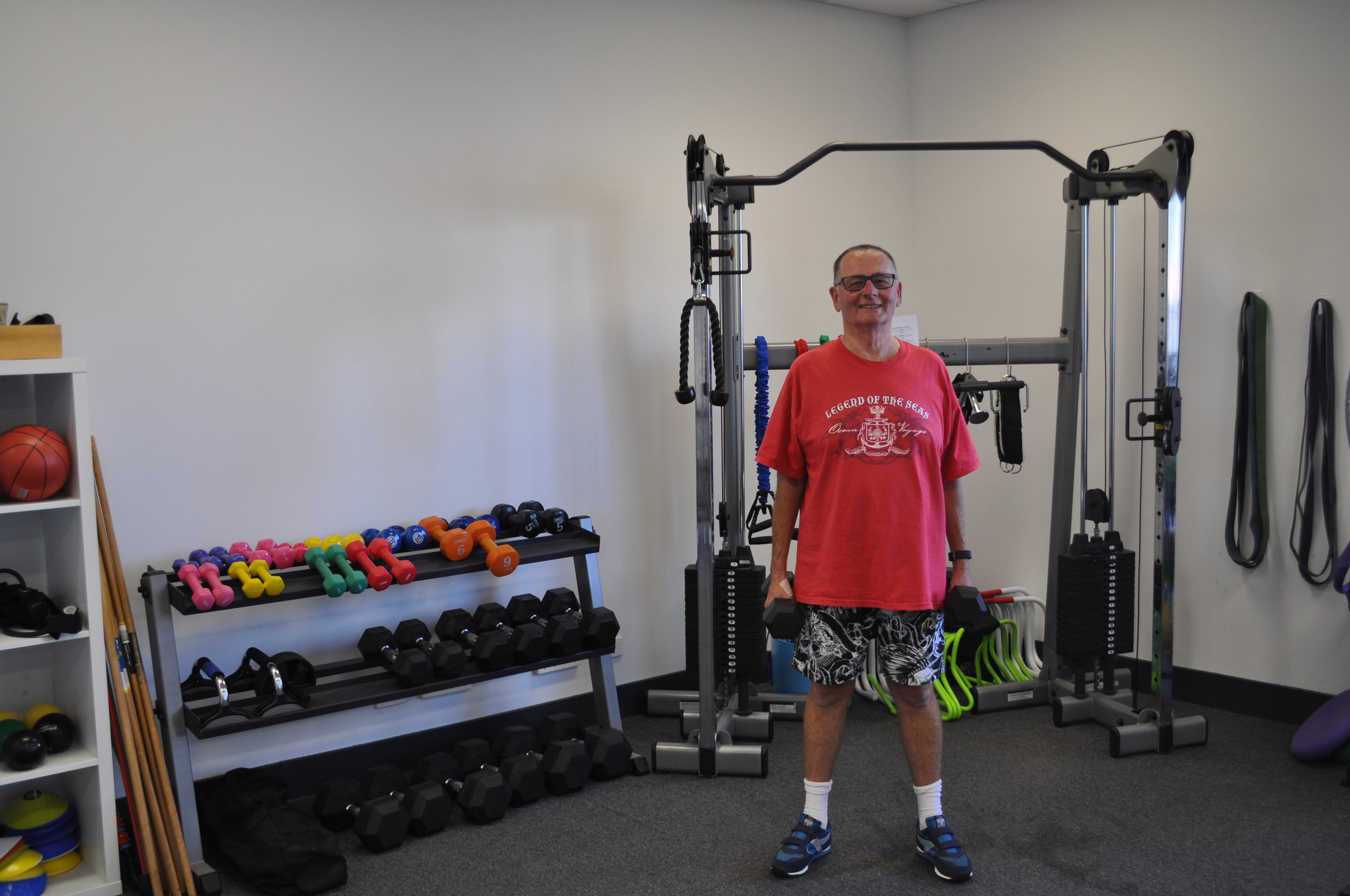 Ken Pritchard - Ken Pritchard commenced at Maximum Results in May 2017 with the goal of losing 32kg. From May 2017 to January 2018, Ken has lost 27.9kg (currently weighing 76.1kg).Ken went through 2 major operations in 2017. 12th of July he had bariatric surgery and 11th of Ocober a total hip replacement.With the professional care of the Exercise Physiologists at Maximum Results, Ken exercises three times a week with constant reviewing of his program. Not only does Ken exercise at the gym, but he's also involved in the Bunbury Over 40 Cycle Club, riding up to 10km-40km 4 times a week.