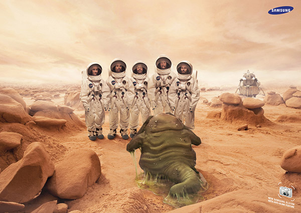 Samsung camera Aliens Agency: FP7 Doha Photographer: Mat Baker