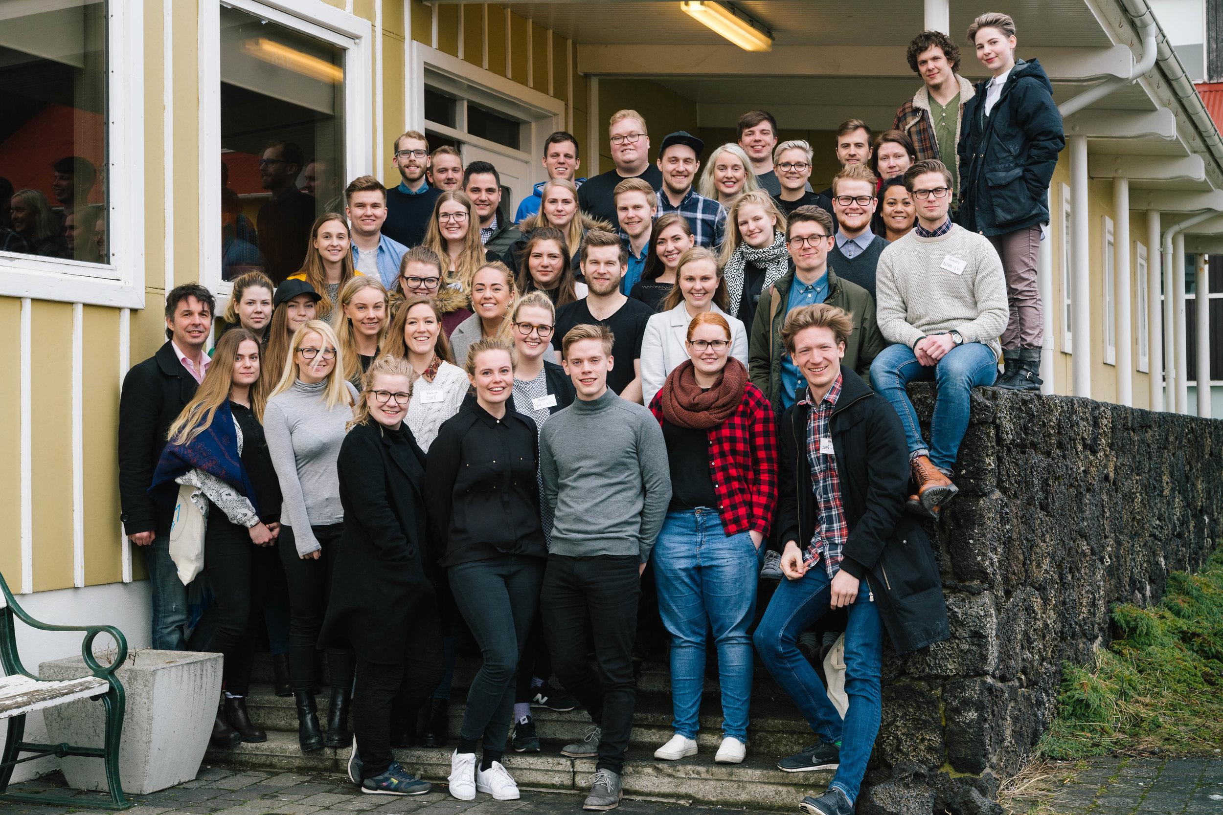 Fulltrúar stúdenta á Landsþingi LÍS árið 2016.
