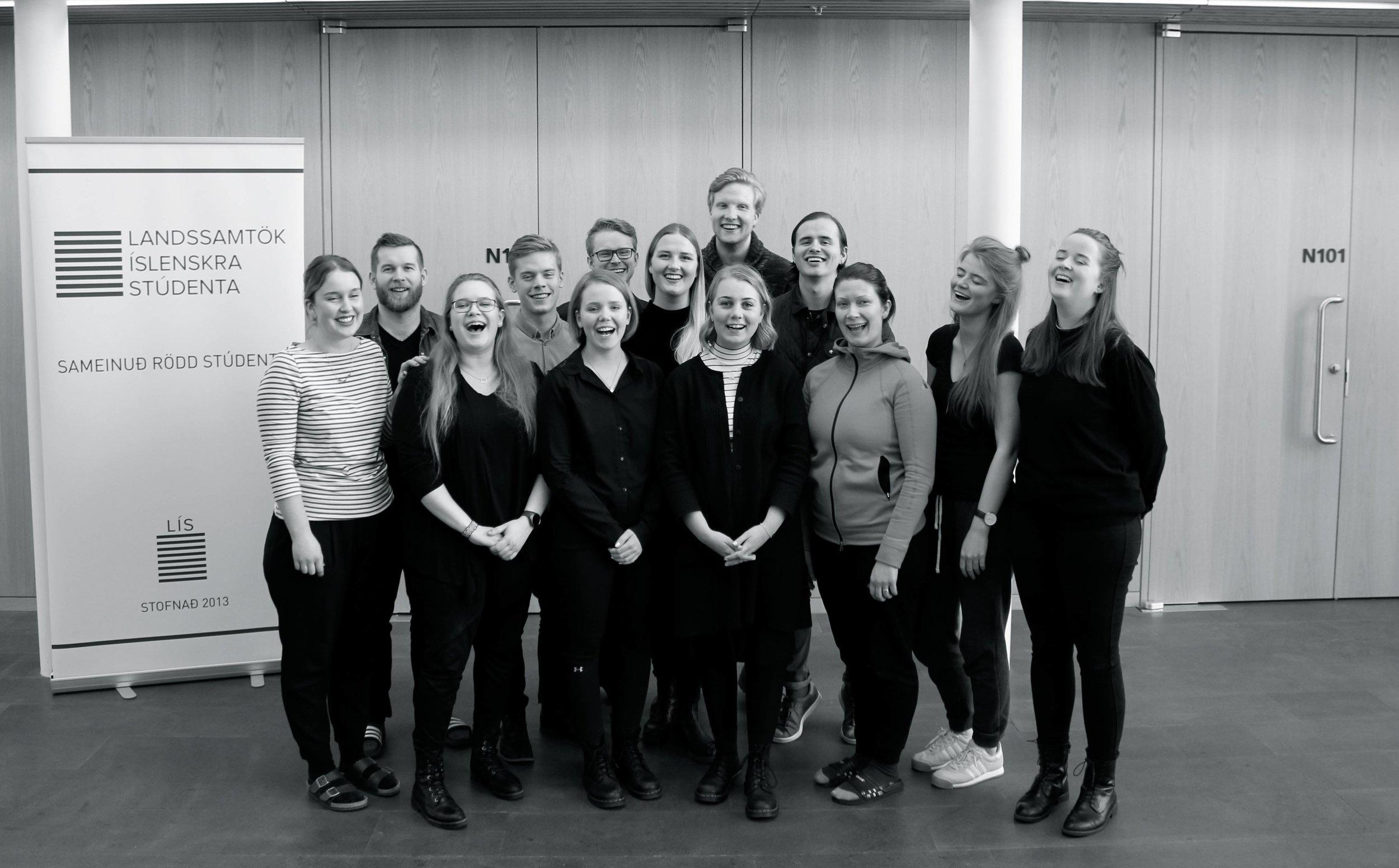 Framkvæmdastjórn auk nefndarmeðlima 2016-2017 á landsþingi samtakanna í mars