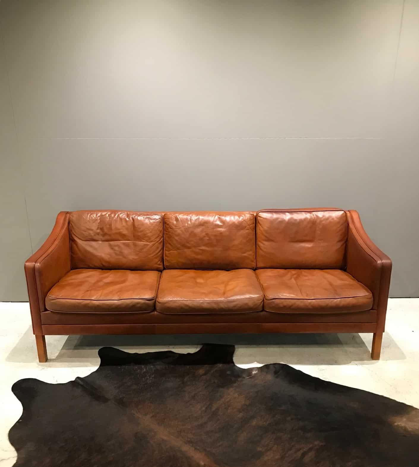 Picture of: Vintage Danish Leather Sofa Mid Century Furniture Melbourne