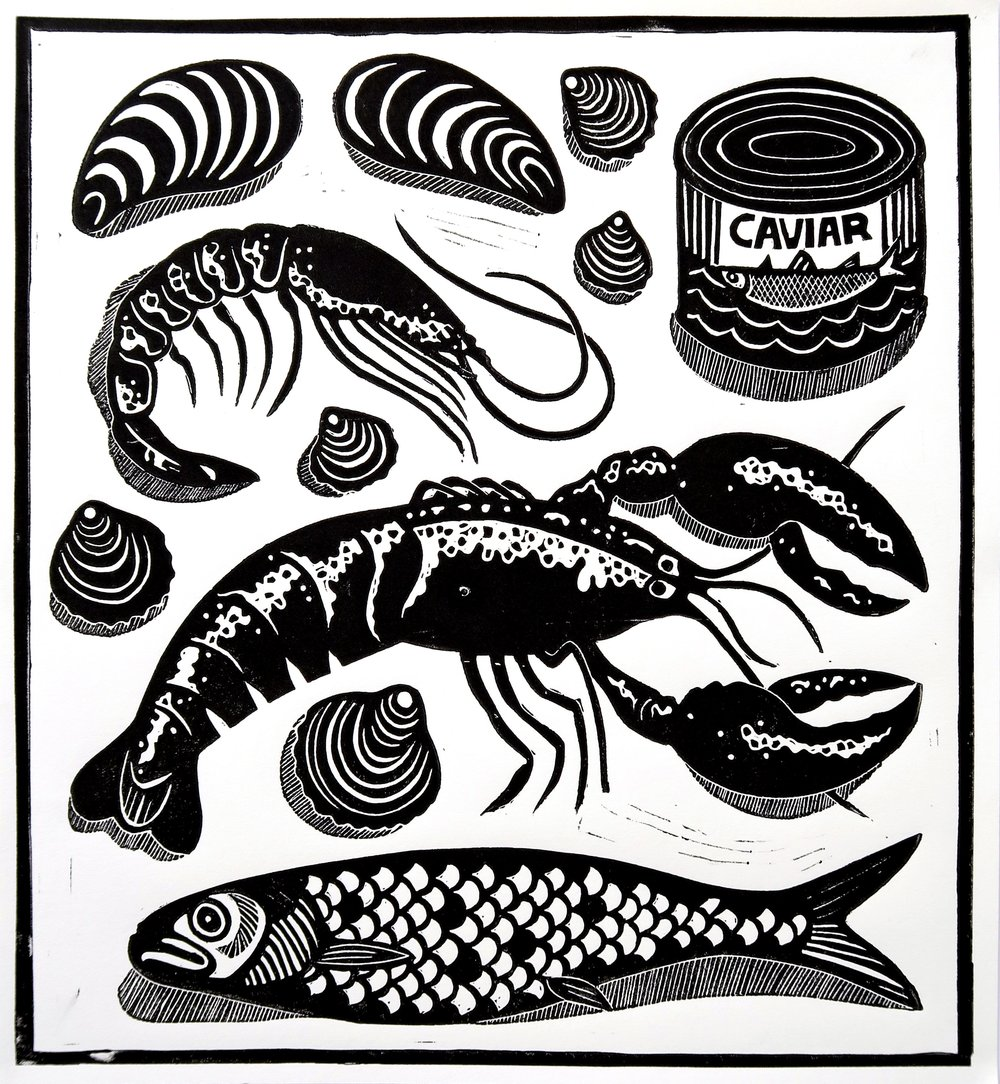 Allie Webb: A Midsummer's Night - See Sydney linocut print artist Allie Webb (and Swillhouse Group art director) embrace foodie culture from a different angle, with her solo exhibition A Midsummer's Night.Webb's showcase of bold, black linocuts pull inspiration from a recent jaunt to Italy, an exploration of modern daily life, with shared experiences around the dining table at its core.China Heights Gallery16/28 Foster St, Surry Hills NSW 2010