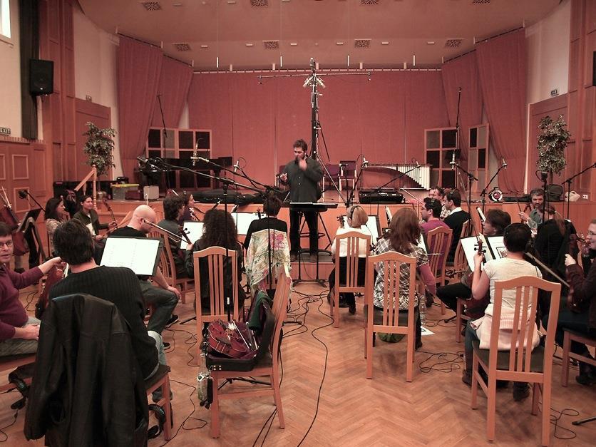 Recording in Budapest for Dark Evolutioins