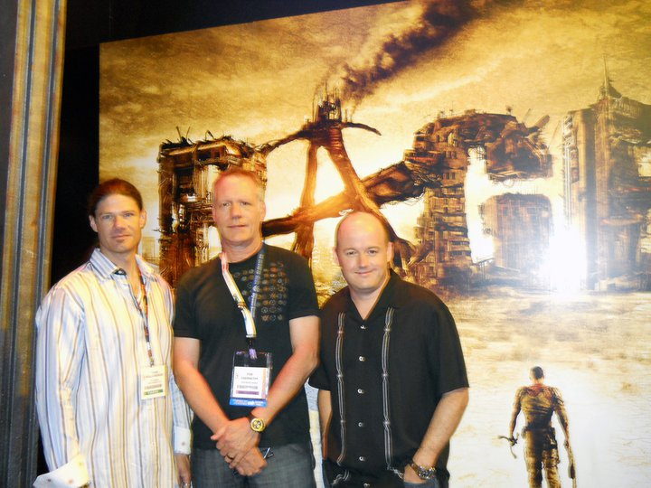 Todd Hollenshead, Rod Abernethy and Tim Willets at E3