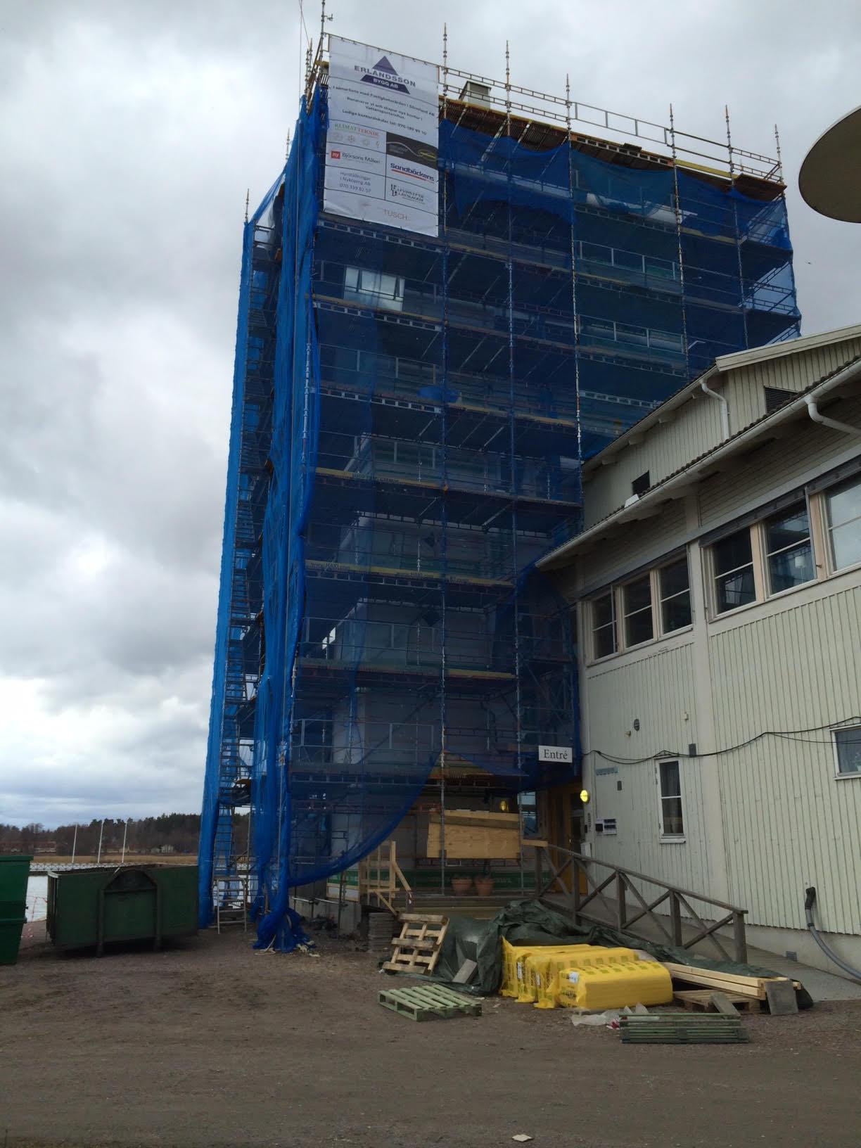 Omfattande ombyggnation av Vattensportens hus i Nyköping Ny ventilation och kompletteringar i flera kontor.