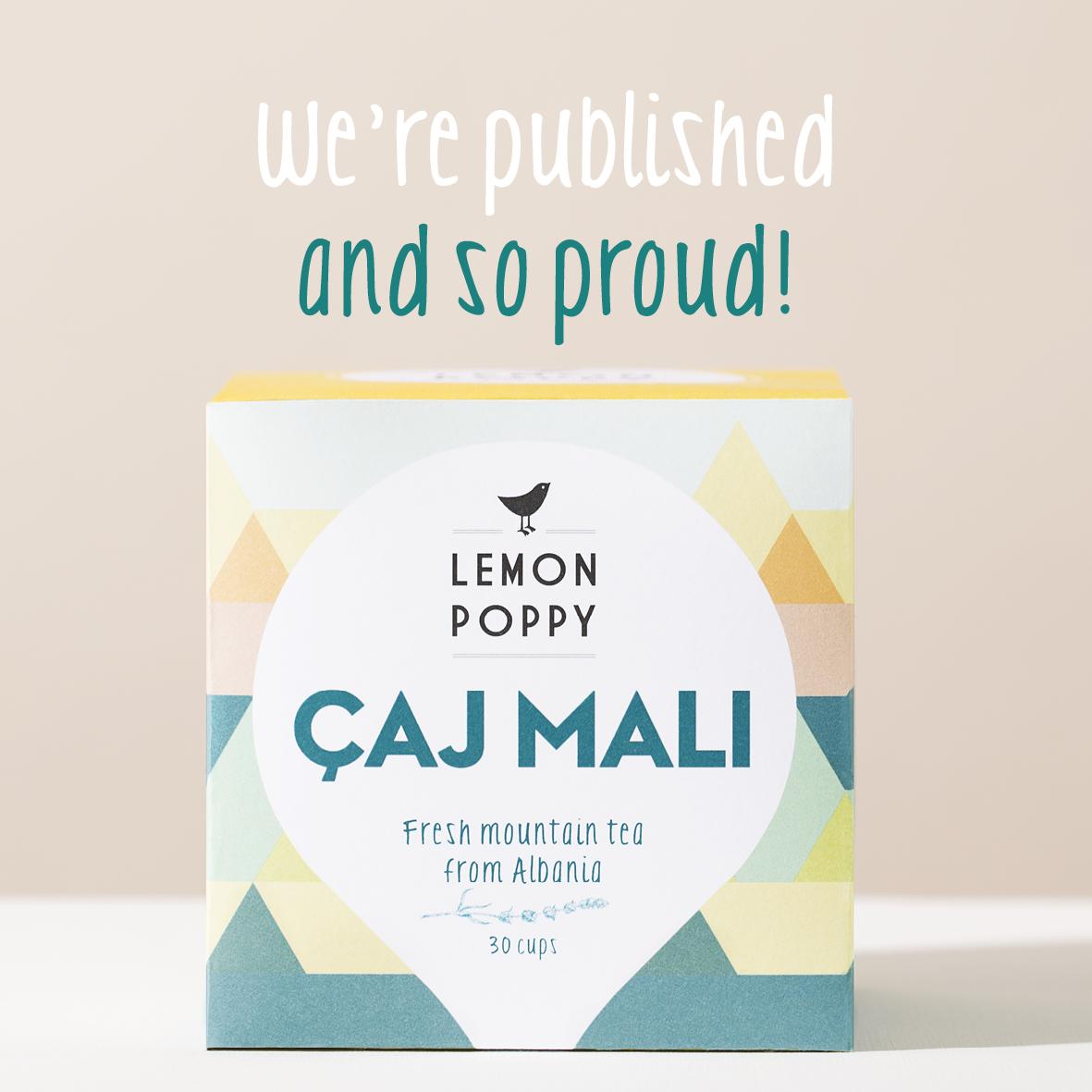 Lemon Poppy thee tea amsterdam Holland Caj Mali albanie thee webshop shop online