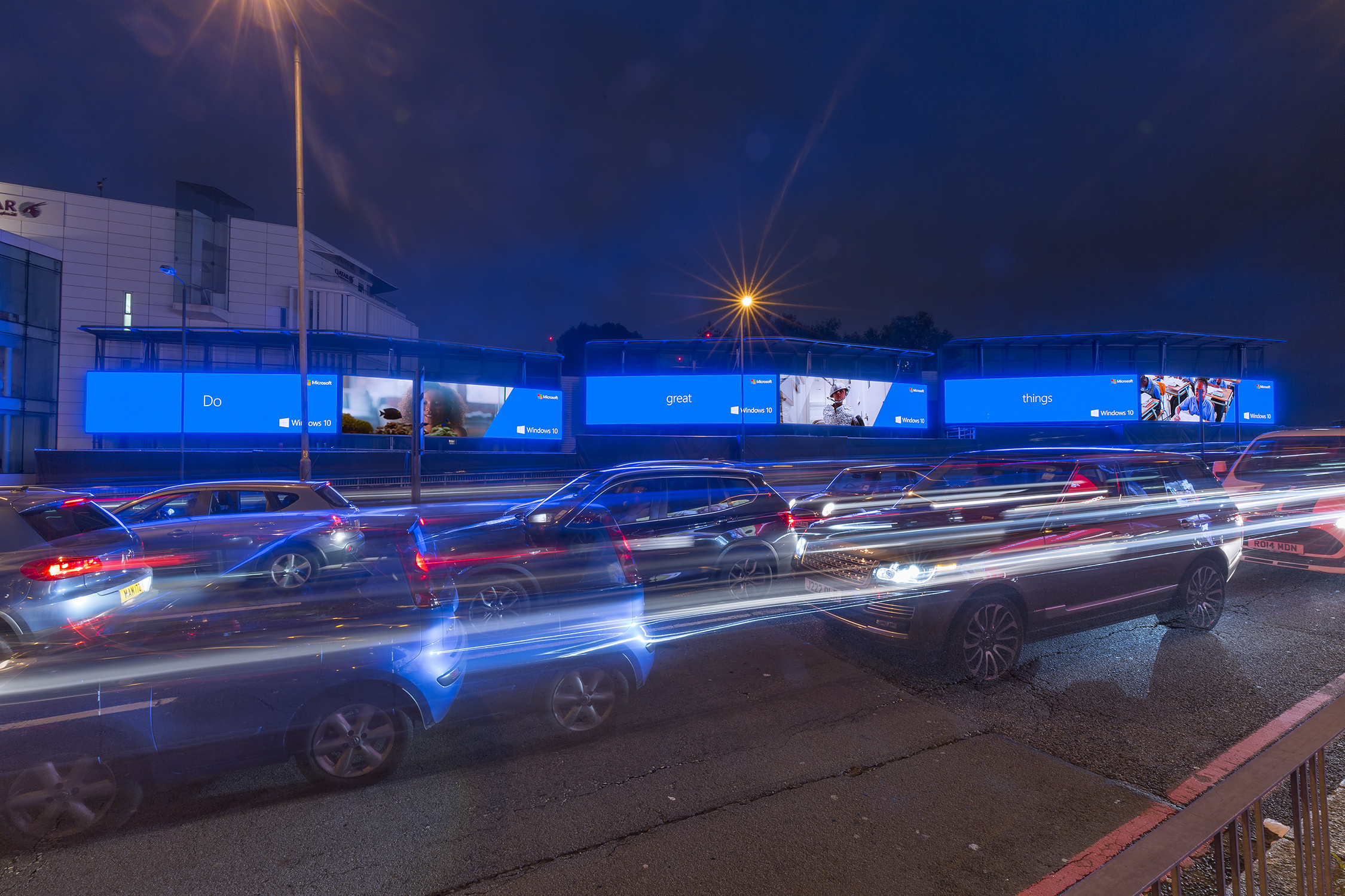 Storm, Clear Channel UK's premium digital brand, transformed the iconic Cromwell Road site into Storm Cromination London. Pretty hard to miss!