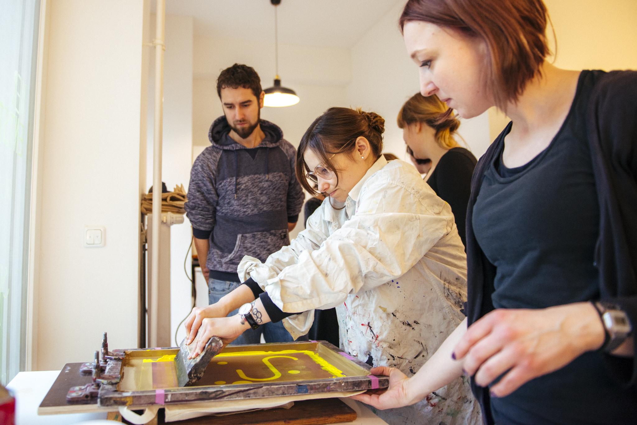Siebdruck Workshop mit der Berliner Gestalterin  Sabine Kelka