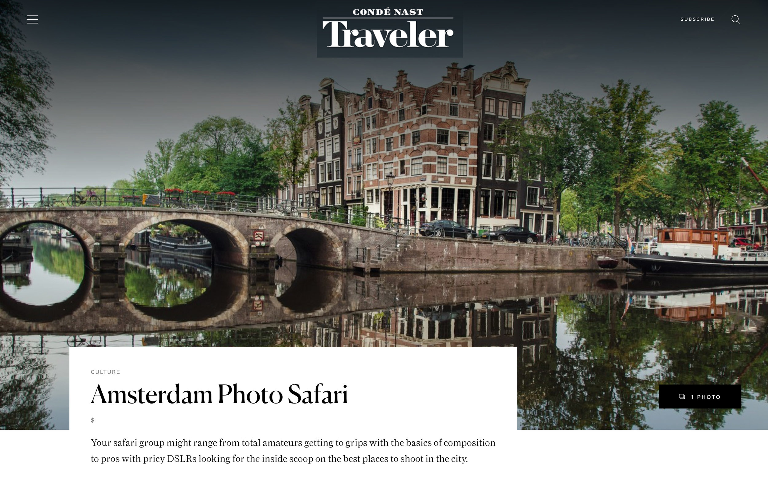 Conde Nast Traveller Magazine - Did you know that we featured in Conde Nast Traveller magazine. They said some really cool things about us. Thanks a lot Conde Nast - we love ya too!
